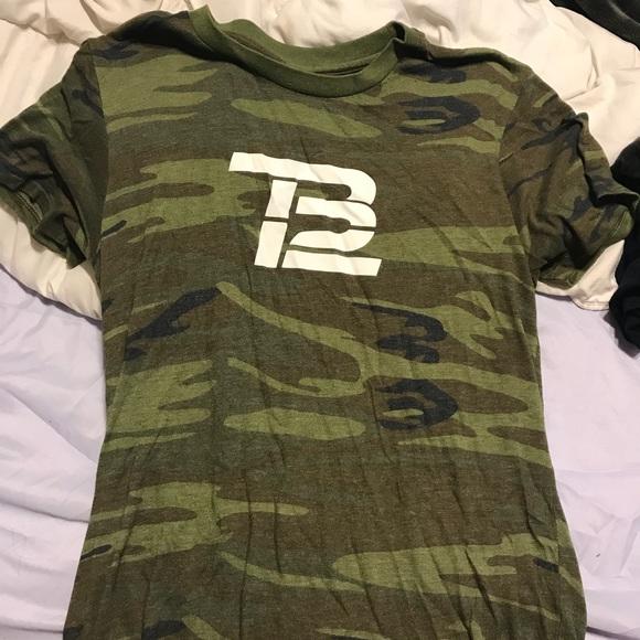 best service ea5e2 6ec1a TB12 camo t shirt